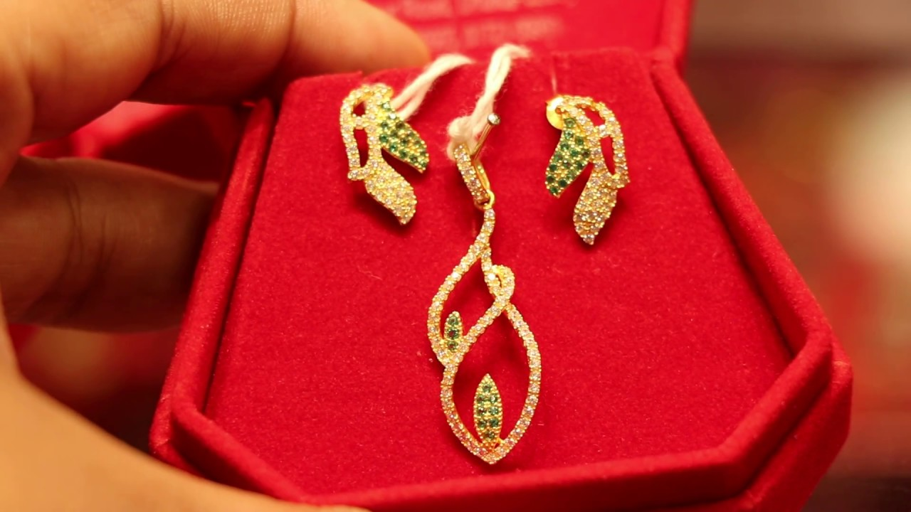 Gold Pendent Jewellery Set Price Bd