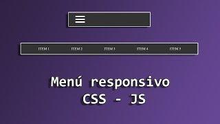 Crear menú con HTML, CSS y JavaScript - Taller Desarrollo Web #3