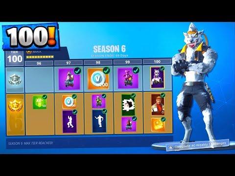 New Fortnite Season 6 Tier 100 Skin Unlocked Fortnite Season 6