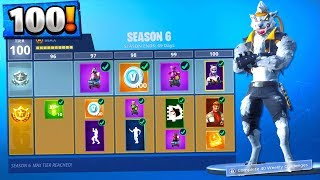 *NEW* FORTNITE SEASON 6 - TIER 100 SKIN UNLOCKED! Fortnite Season 6