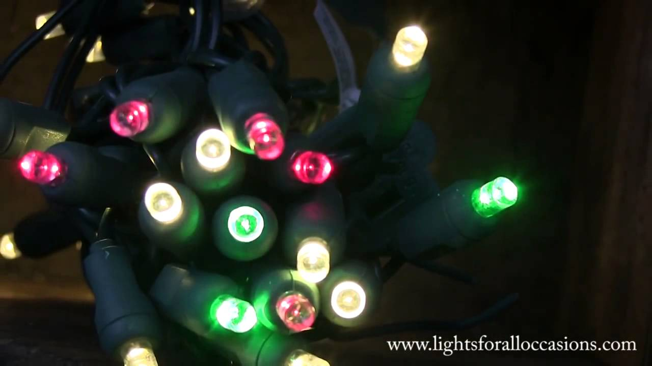 led string lights warm white wide angle bulbs green and red twinkle - Red Green White Christmas Lights