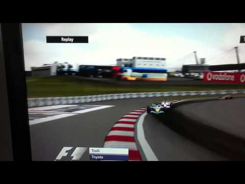 F1 2006 PS3 GAMEPLAY JARNO TRULLI GERMAN GP CRASH