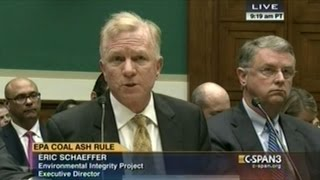 Environmental Protection Agency Hearing On Disposal Of Coal Ash