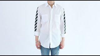 롤프 남성 남자 기본 무지 남방 셔츠 화이트 흰색 프린…