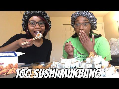 100 SUSHI CHALLENGE #MUKBANG