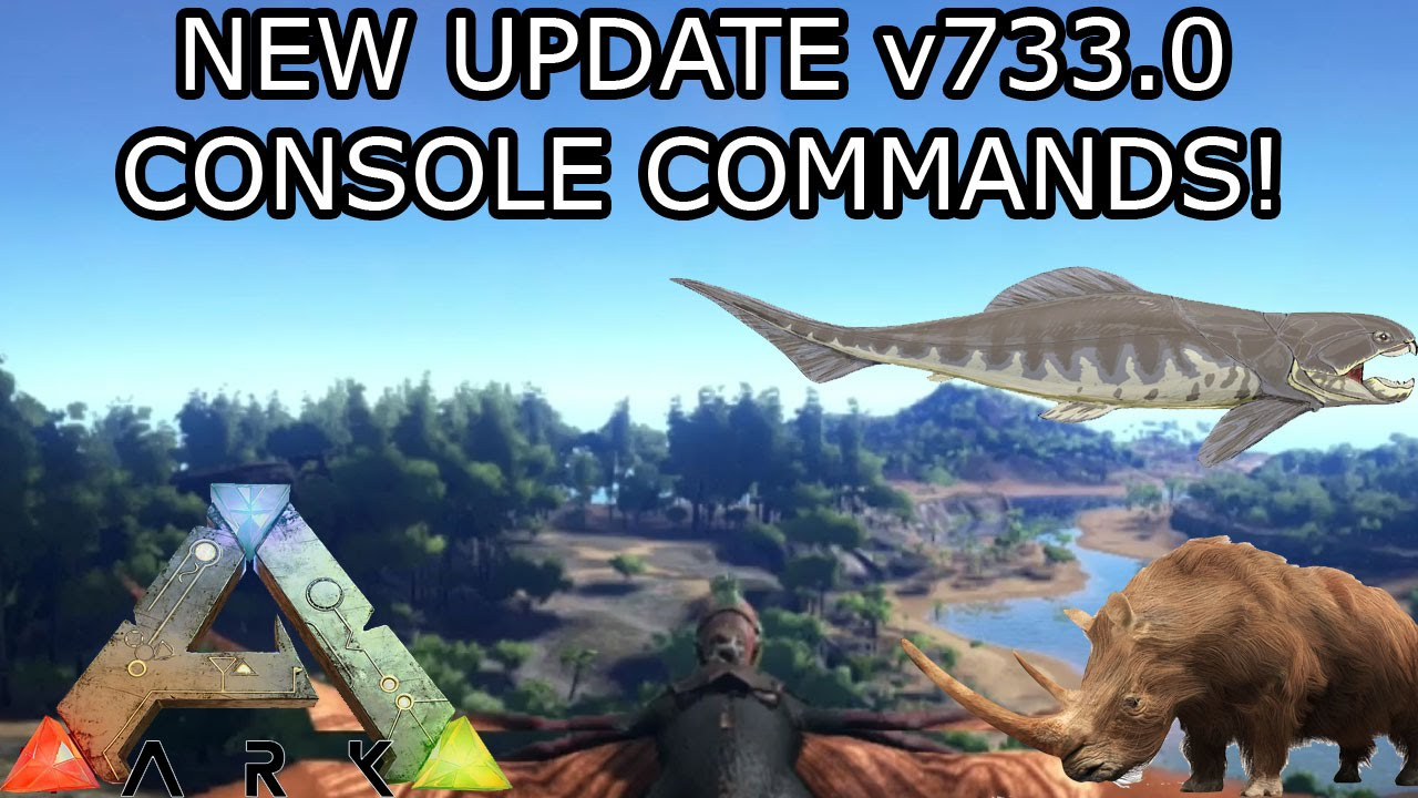 ARK: SURVIVAL EVOLVED - NEW UPDATE XBOX ONE - v733 0 - CONSOLE COMMANDS AND  MORE!