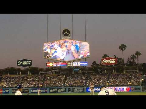 First Gay Kiss on Kiss Cam at Dodgers Stadium! @28 seconds from YouTube · Duration:  1 minutes 26 seconds