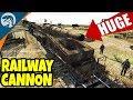 MASSIVE RAILWAY CANNON DEMOLISHED | Men of War: Assault Squad 2 Red Tide Gameplay