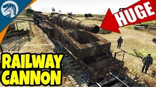 MASSIVE RAILWAY CANNON DEMOLISHED | Men of War: Assault Squad 2 Red Tide Gameplay
