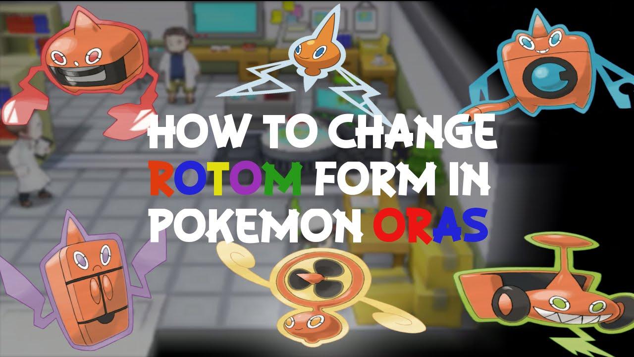Pokemon Omega Ruby & Alpha Sapphire How To Change Rotom Form ...