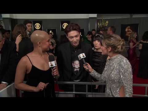 Lay Zhang Red Carpet Interview   2019 GRAMMYs