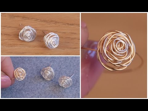 DIY: Make Silver Stud Earrings (Rose Jewellery) with Jessica Rose