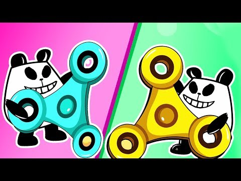 Panda A Panda Fidget Spinner | Panda Kids Cartoon | Videos For Kids | Funny Panda Episodes
