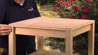 Woodworking Plans - How To Build An Accent Table, Part 3 Table Top Finish