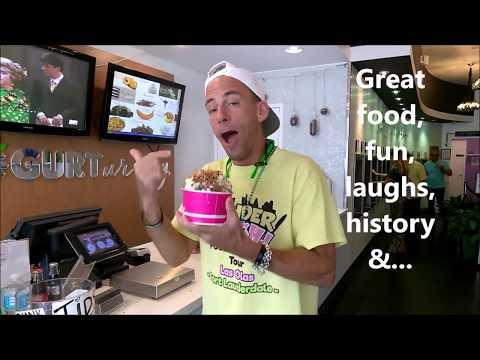 Food & History Tour - Fort Lauderdale  - Wonder-Munch - Tour Guide Howie eats it - Yogurt UR Way!