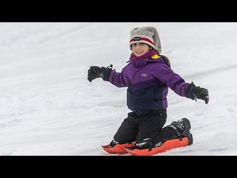 Families enjoy the snow at Mount Royal