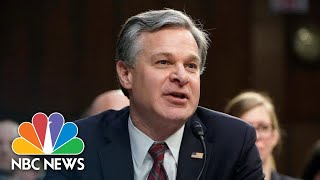 FBI Director Wray Testifies At Senate Hearing On Capitol Riot | NBC News