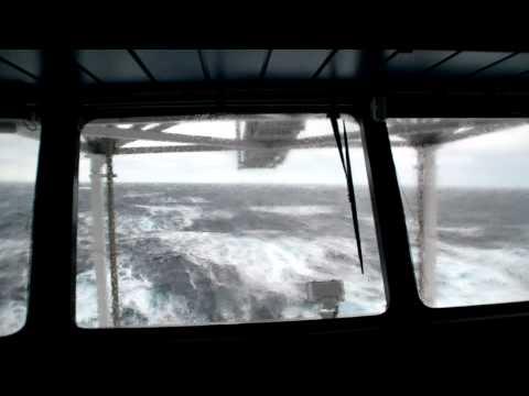 Storm on north sea