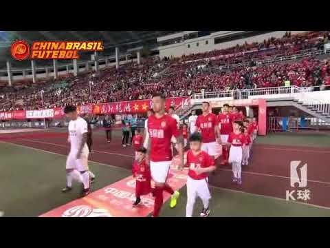 Melhores momentos Guangzhou Evergrande 5x0 Changchun Yatai - 2a Rodada da Super Liga da China 2018