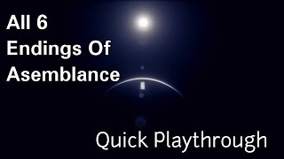 ALL Endings Of Asemblance   Quick Playthrough