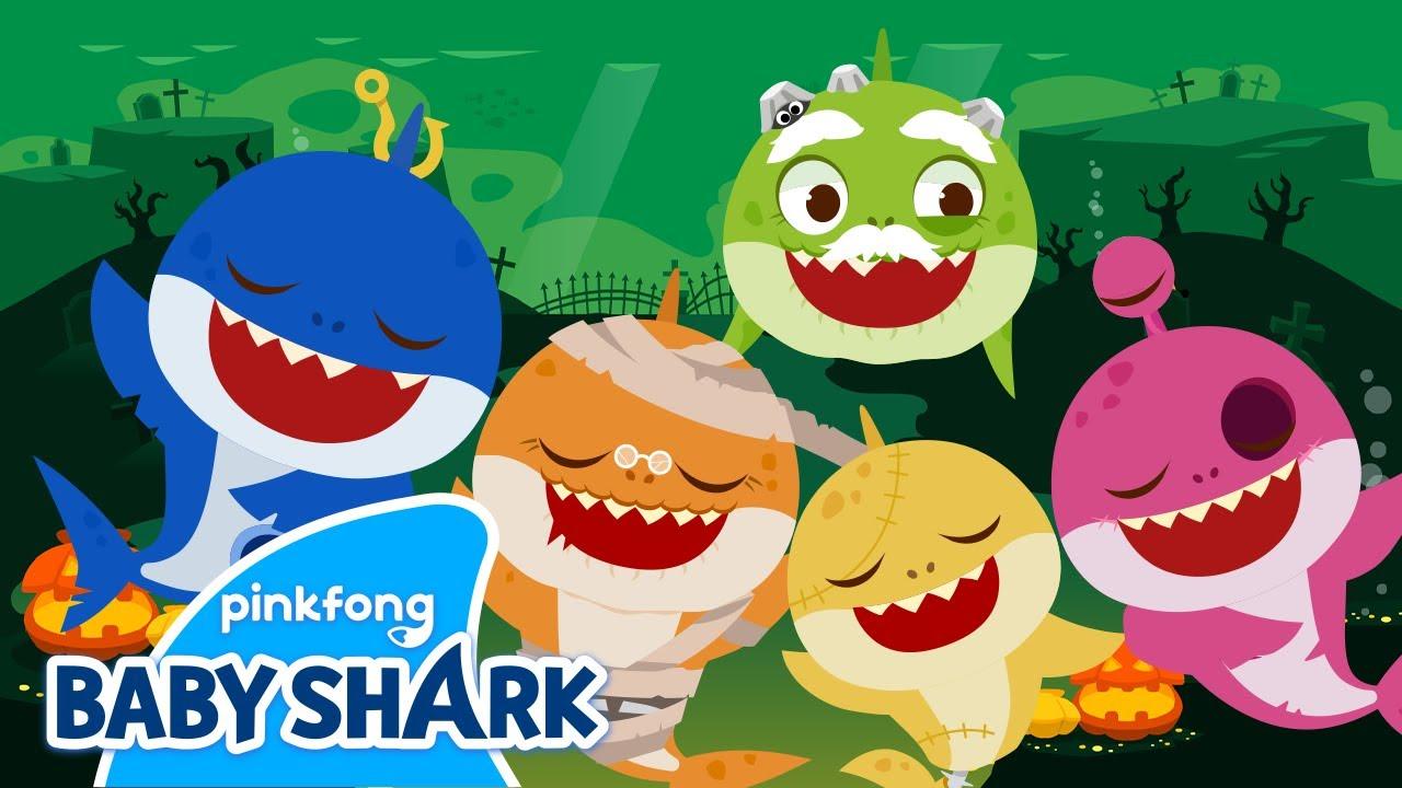 Halloween Zombie Sharks | Halloween Shark Family | Baby Shark Monthly | Baby Shark Official