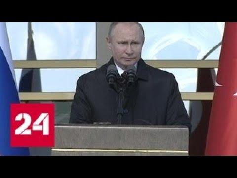 """Путин: пуск АЭС """"Аккую"""" создаст в Турции новую отрасль экономики - Россия 24"""