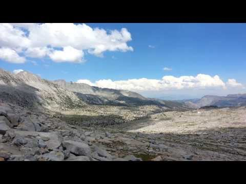 View from Donohue Pass in Tuolumne Meadows, Yosemite