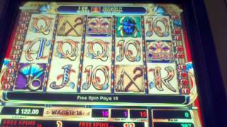 High Limit Cleopatra Slot machine 15 Free spins  $1 denom
