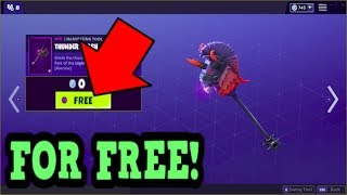 HOW TO GET THUNDER CRASH PICKAXE FOR FREE! (Fortnite Old Pickaxe)