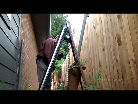 DIY Post Puller made with a chain hoist - remove metal or wood fence post w/o digging