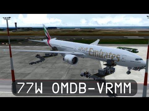 Prepar3d V4 - Emirates 777-300ER - Dubai to Maldives (OMDB-VRMM)