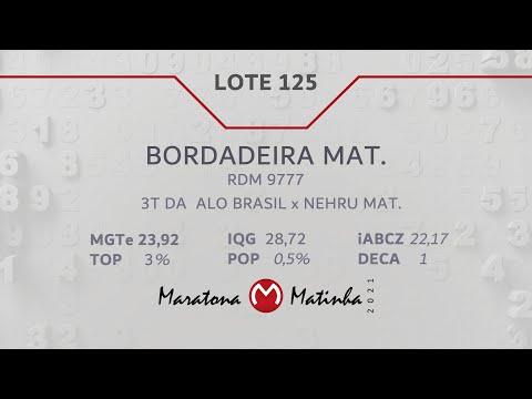 LOTE 125 Maratona Matinha