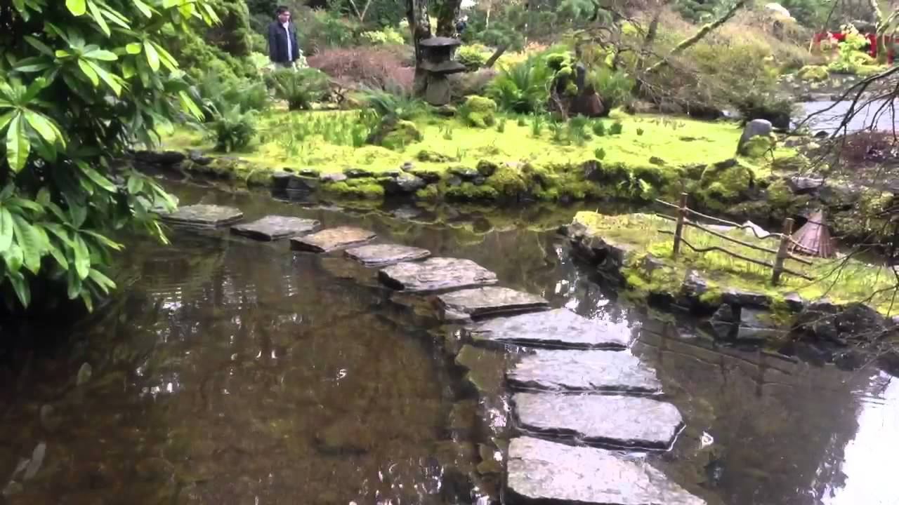 Beautiful butchards gardens ponds and waterfalls mossy for Japanese pond