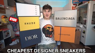 I Bought The Cheapest Designer Sneakers From Dior, Balenciaga, & More!