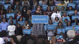 Michelle Obama campaigns in Hampton