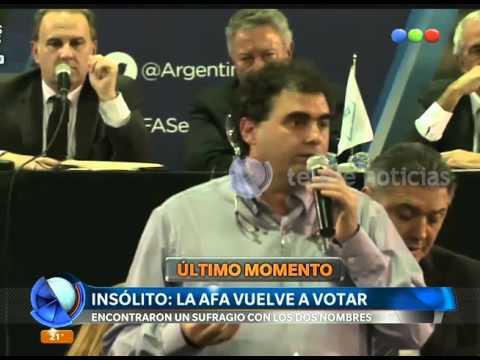 (video) PAPELÓN Y ESCÁNDALO EN LA ELECCIÓN DE LA AFA: VOTARON 75 ASAMBLEÍSTAS PERO HABÍA 76 VOTOS