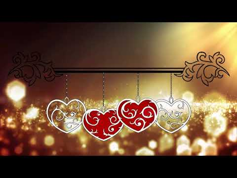 Wedding Title Band Gold Background Animation || FREE Video Background Loops HD 1080p thumbnail