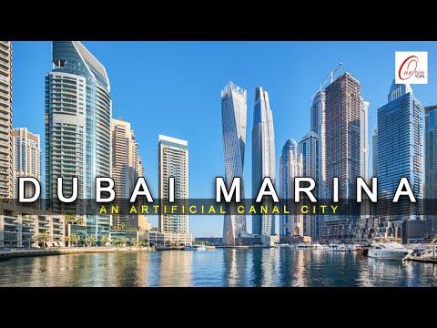 DUBAI MARINA WALK   CAYAN TOWER   AN ARTIFICIAL CANAL CITY