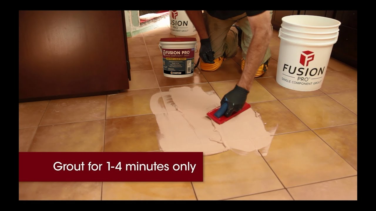 Best Way To Install Fusion Pro Single Component Grout