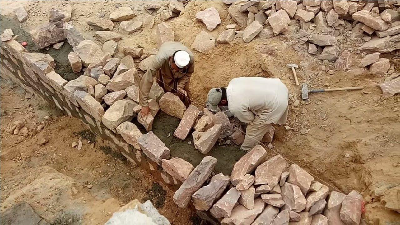Stone masonry wall construction