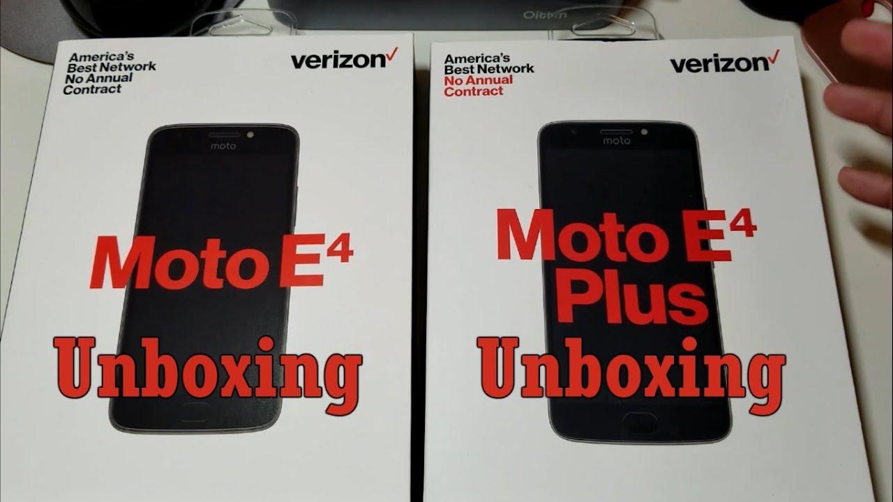 half off e8c27 3a8d1 Moto E4/E4 Plus Dual Unboxing!( Verizon Prepaid Models) Unlockable?