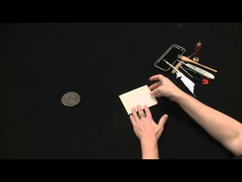 Letterlocking™: Queen Elizabeth I of England, Triangle-shaped paper lock, 1584