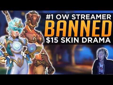 Overwatch: xQc Gets BANNED! - $15 All-Star Skin Controversy