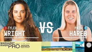 Tyler Wright vs. Paige Hareb - Round Two, Heat 4 - Margaret River Women's Pro 2018