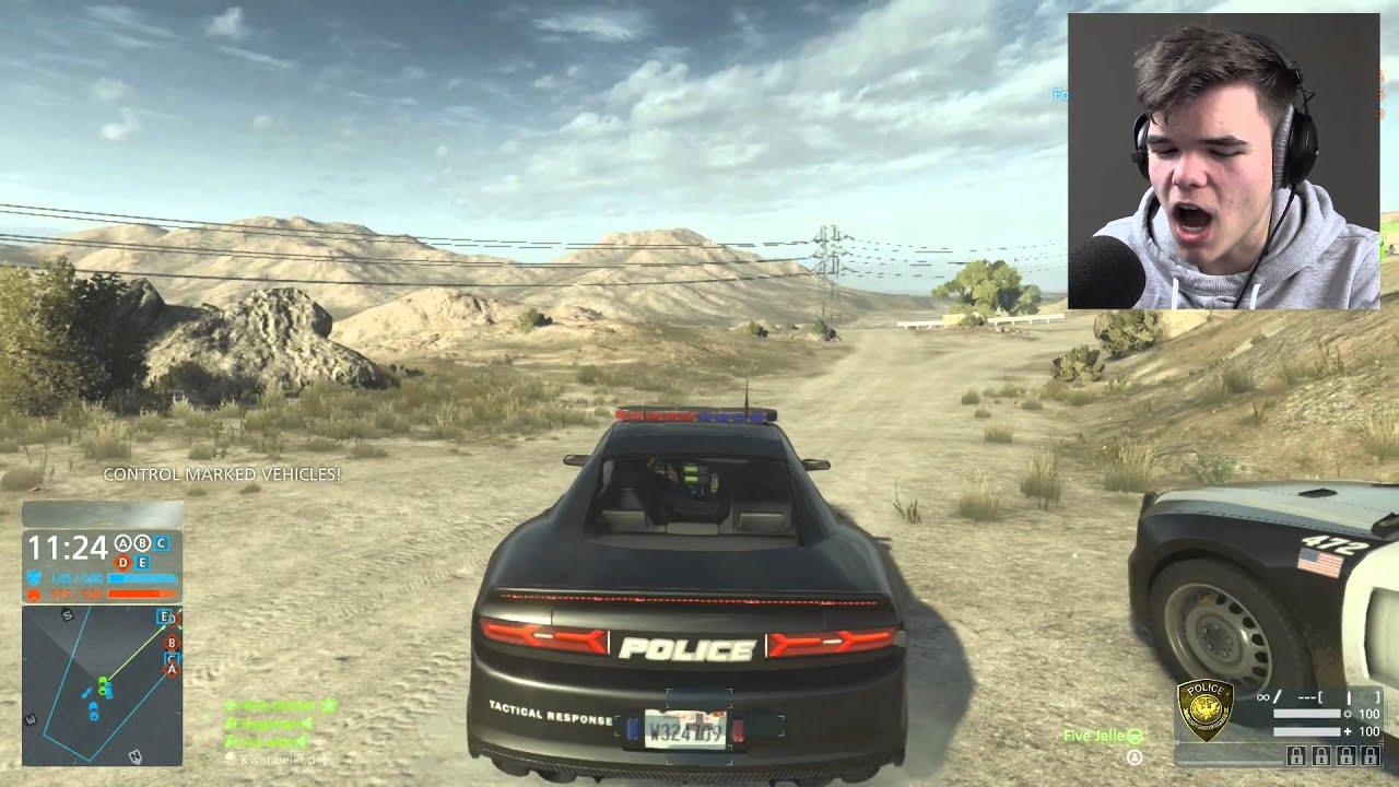 Battlefield Hardline Driving Cars