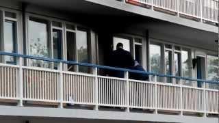 brand bij voordeur in flat amstelveen