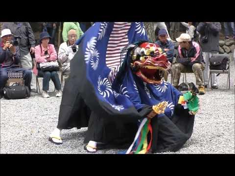 """御杖村菅野の獅子舞~参神楽~ Japanese traditional arts """"Shishimai"""" LionDance"""