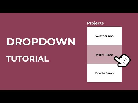 How To Create A HTML Dropdown Menu | CSS Dropdown Tutorial