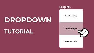 How To Create a HTML Dropdown Menu   CSS Dropdown Tutorial