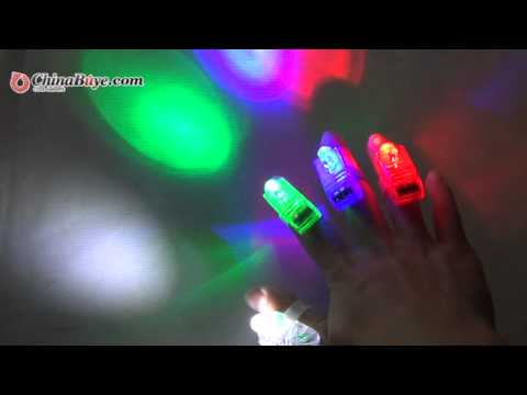 4 pcs Multi-Color LED Party Light Finger Laser Beam Torch Ring